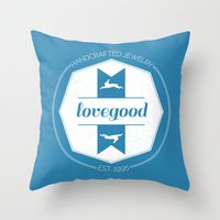 luna lovegood Throw Pillows featuring Lovegood Handcrafted Jewelry by Dorothy Leigh