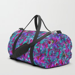 Floral Abstract Stained Glass G279 Duffle Bag