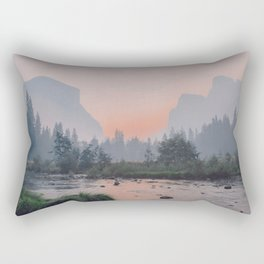 Yosemite Valley Sunrise Pretty Pink Rectangular Pillow