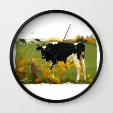 Cow Folk Wall Clock