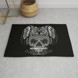 Owl Skull Ornate Rug