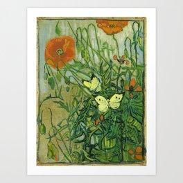 """Vincent Van Gogh """"Butterflies and Poppies"""" Kunstdrucke"""