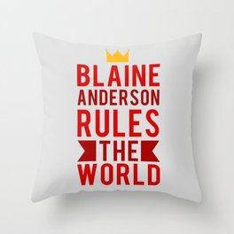 Blaine Anderson Rules The World Throw Pillow