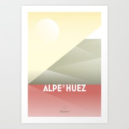 Alpe d'Huez / Cycling Art Print