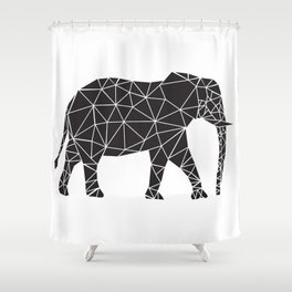 Elephant Angles (Help Save Endangered Elephants) Shower Curtain