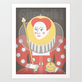 Queen Elizabeth I Portrait Art Print