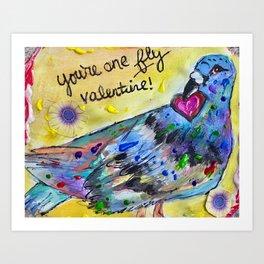 My fly valentine Art Print