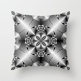 Geometric damask Throw Pillow