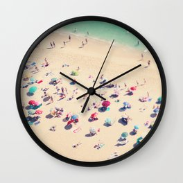 beach summer in love Wall Clock