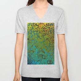 Colorful Corroded Background G292 Unisex V-Neck