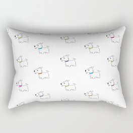 Westie West Highland White Terrier Rectangular Pillow