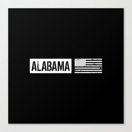 U.S. Flag: Alabama Canvas Print