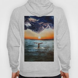 A whale and a morning Hoody