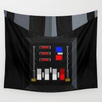 darth vader Wall Tapestries featuring Darth Vader by Nerdiful Art