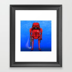 Marijuana trooper Framed Art Print