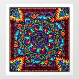 Fire Flower Art Print