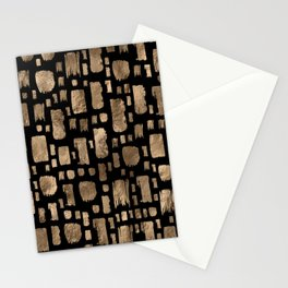 Gold Paint Strokes on Gold 2 Stationery Cards