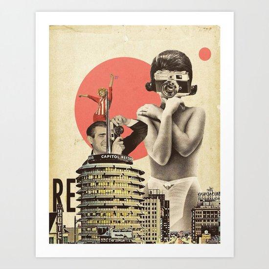 Hollywood & Vine Art Print