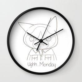 Ughhh...Monday II Wall Clock