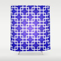 1d Shower Curtains featuring Pattern 1D by Robin Curtiss