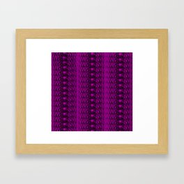 delicate elegant dark pink lace pattern Framed Art Print