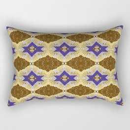 Blue and Brown by Melissa Brown Rectangular Pillow