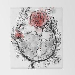 Ultil the last petal falls Throw Blanket