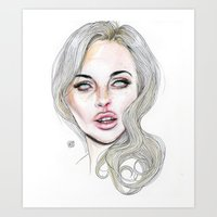 lucas david Art Prints featuring Lindsay By Lucas David 2015 by Lucas David