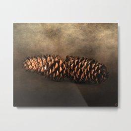 Fallen - Pine Cones Metal Print