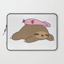 Sloth and Axolotl Laptop Sleeve