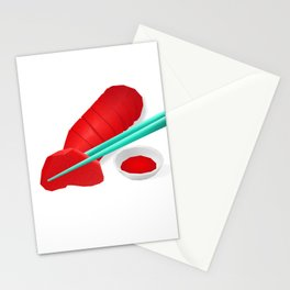 The intimate sashimi Stationery Cards