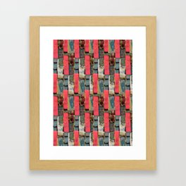 pink dots no1 Framed Art Print