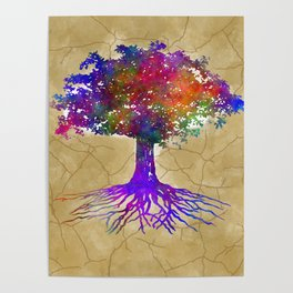 Tree Of Life Batik Print Poster