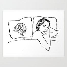 Insomnia Diary 1 Art Print