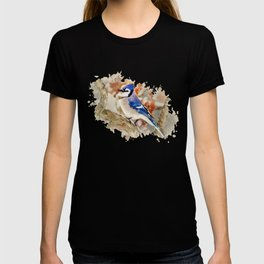 Watercolor Blue Jay Art T-shirt