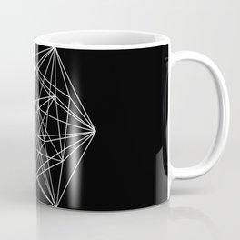 Intricate - Black And White Geometric, Conceptual Abstract Coffee Mug