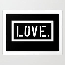 Love Stencil Art Print