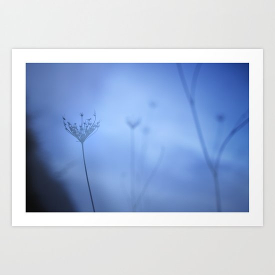 Blue hour in the paradise Art Print