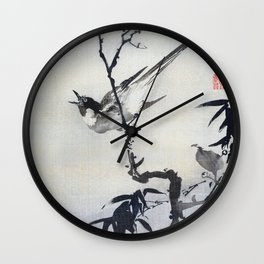 Singing Bird On A Branch - Digital Remastered Edition Wall Clock