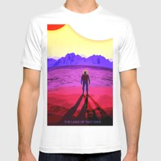 Suns view MEDIUM White Mens Fitted Tee