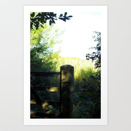 The Country Gate Art Print
