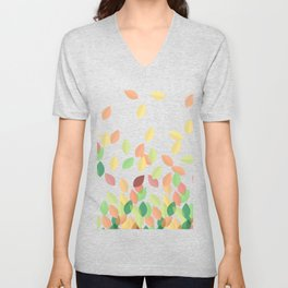 Autumn Leaves Dancing in the Wind Unisex V-Neck