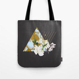 Tropical Flowers & Geometry Tote Bag