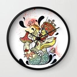 Mushroom Kamasutra Wall Clock