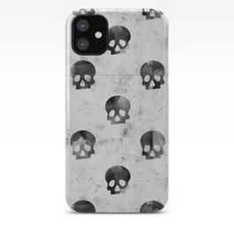 Grunge Skulls Pattern iPhone Case