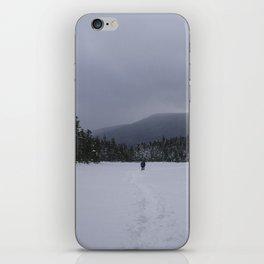 Snowshoeing Across Lonesome Lake - NH iPhone Skin