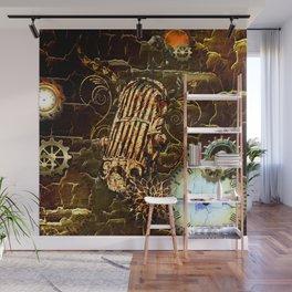 Steampunk, micropphone Wall Mural