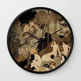 """Autumn Interlude"" by Charles Robinson Wall Clock"
