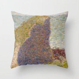 Study for Le Bec du Hoc, Grandcamp Throw Pillow