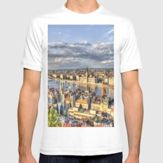 Budapest City View White MEDIUM Mens Fitted Tee